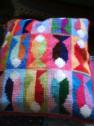 Birds and needlepoint and bunting 003