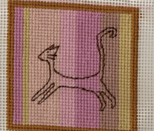 Cat needlepoint